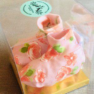 Organic Baby Booties Set {Pink Rose} NWT